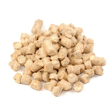 wood pellet: Wood Pellet  Pine  Cat Litter Isolated on White Background