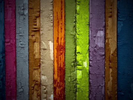 Multicolored Painted Wooden Planks Background