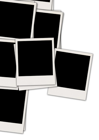 recollections: Blank Photos on White Background Stock Photo