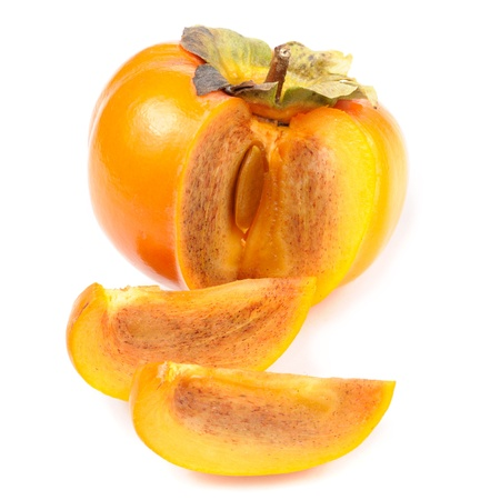Persimmon Isolated on White Background photo