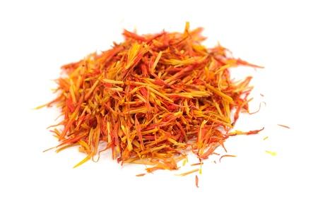 ersatz: Safflower - Substitute for Saffron -  Isolated on White Background