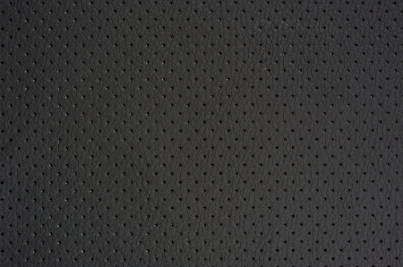 Dark Gray Perforated Artificial Leather Background Texture