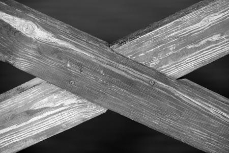 Crossed Wooden Planks photo