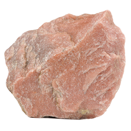 A close-up of red granite stone isolated on a white background photo