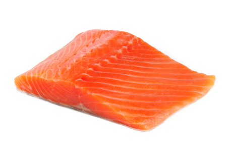 Salmon Fillet Isolated on White Background photo