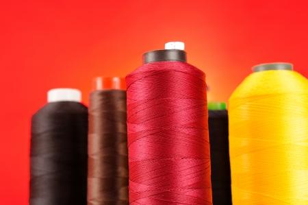 Multicolored Spools of Thread photo