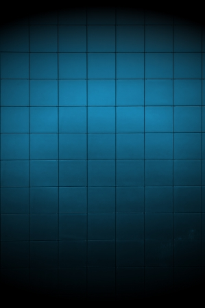 Dark Blue Tiled Wall with Spotlight photo