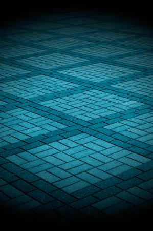 seam: Blue-Toned Tiled Pavement