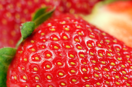 Red Strawberry Close-Up photo
