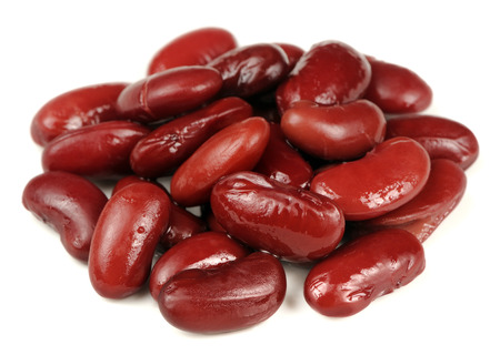 pinto: Canned Kidney Beans Isolated on White Background