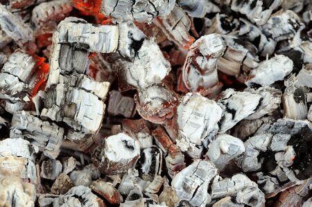 embers: Hot Wood Embers  Stock Photo