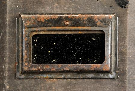 Old Welding Helmet Close-Up photo