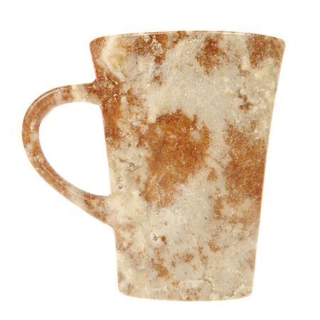 spice cake: Mug with Frosted Spice Cake Texture Isolated on White Background Stock Photo