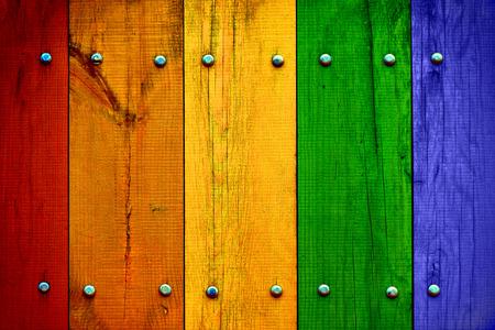 Heldere Veelkleurige Houten Planken Stockfoto
