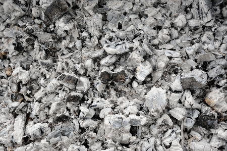 ember: Ash and Burnt Coal Stock Photo