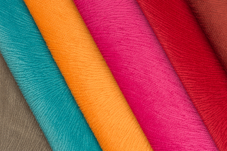 Multicolored Fabric Swatches photo