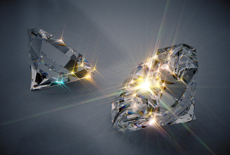 close up: Sparkling Diamonds