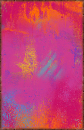 Colorful Pink Texture with Rusty Seams Along Edges photo