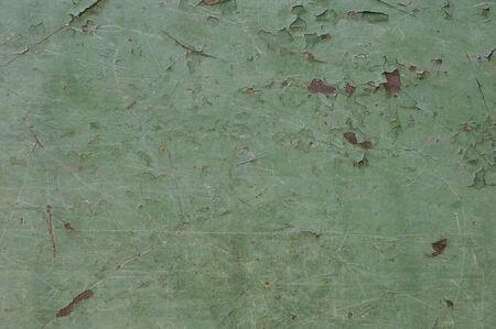 crackles: Green Peeling Paint Background
