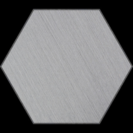 brushed aluminum: Hexagonal Aluminum Bevelled Panel with Clipping Path (Part of Hexagonal Aluminum Panels set, which includes 14 unique panels that fit together perfectly to form a huge high-detail image)