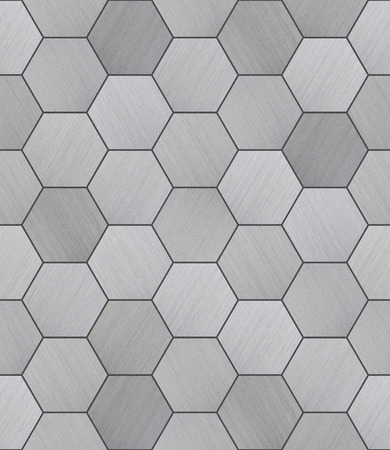 Hexagonal Aluminum Tiled Seamless Texture