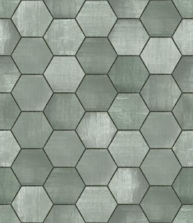tiled: Grungy Hexagonal Tiled Seamless Texture Stock Photo