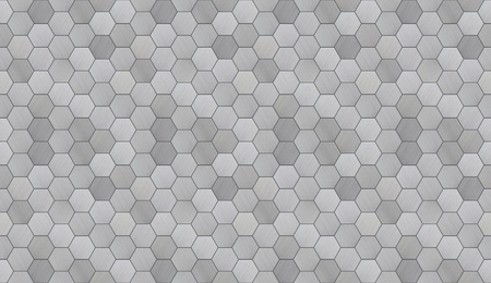 Futuristic Hexagonal Aluminum Tiled Seamless Texture 免版税图像