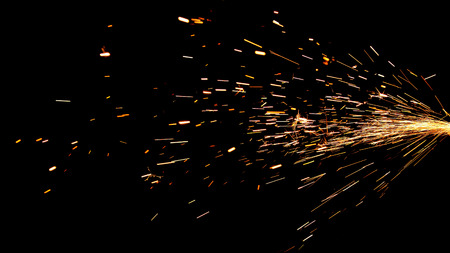 Glowing Flow of Sparks in the Dark Stok Fotoğraf - 37238224