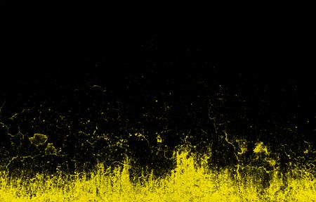 Dynamic Yellow Splashes on Black Background photo