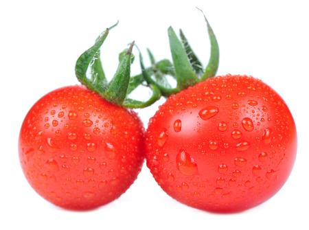 lycopene: Red Tomatoes Isolated on White Background