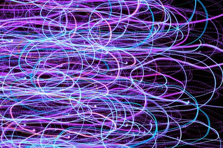 Neon Glowing Lines Background photo