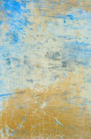crackles: Light Blue Wall with Cracked Paint Effect Stock Photo