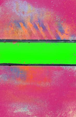 acido: Fondo rosa sucio con Acid Green Stripe Foto de archivo