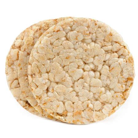 crispbread: Pane croccante isolato su sfondo bianco Archivio Fotografico