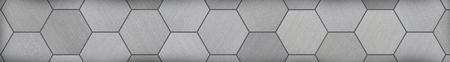 letterbox: Hexagonal Aluminum Panoramic Metal Background (Letterbox Format) Stock Photo