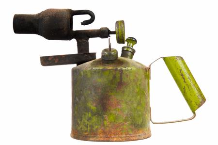 blowtorch: Old Kerosene Blowtorch Isolated on White Background