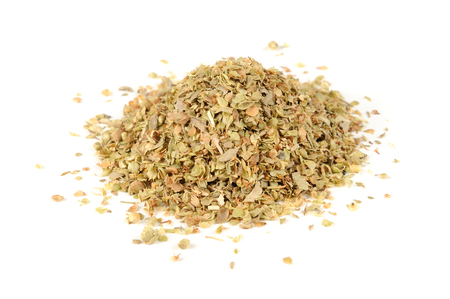 dried: Dried Oregano Herb Isolated on White Background