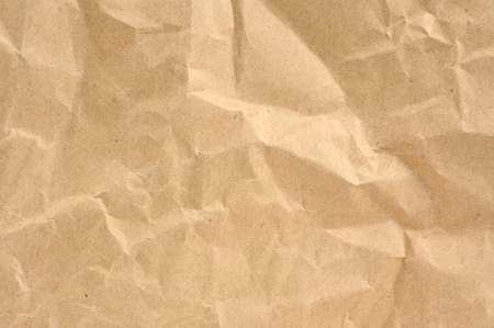 creasy: Crumpled Brown Paper Texture Stock Photo