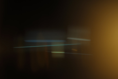 Real Anamorphic Lens Flare Banque d'images