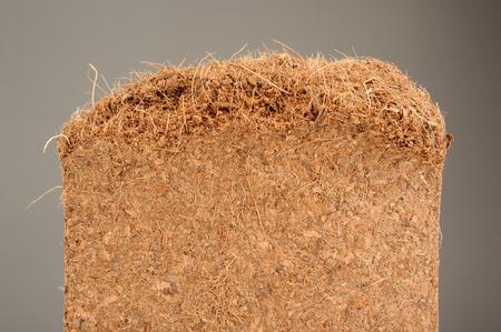 amendment: Coconut Coir Used as Growing Medium or Soil Amendment Close-Up Stock Photo