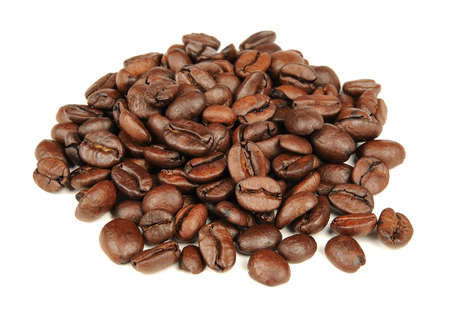 stimulating: Coffee Beans Isolated on White Background