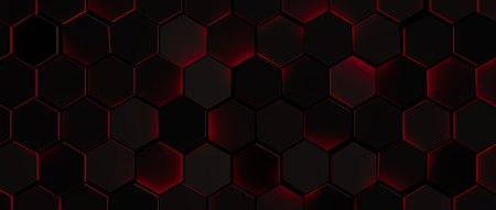 red metal: Dark Glowing Red Hexagon Background