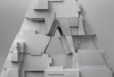 voluminous: Textured Metal Triangle