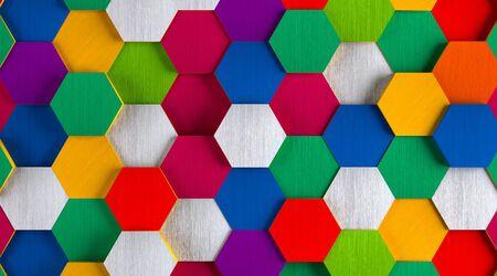 Funny Bright Hexagon Background