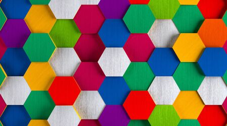 Funny Bright Hexagon Background
