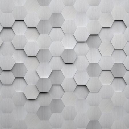 起毛金属の六角形の背景