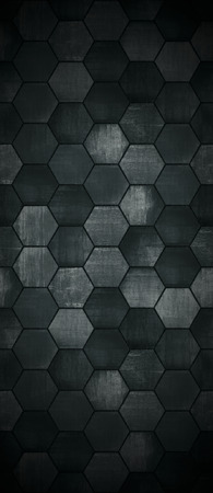 hexagonal pattern: Extra Dark Tall Tiled Background
