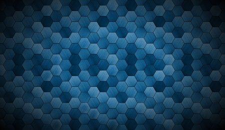faded: Extra Dark Cyanotype Tiled Background with Spotlight Stock Photo