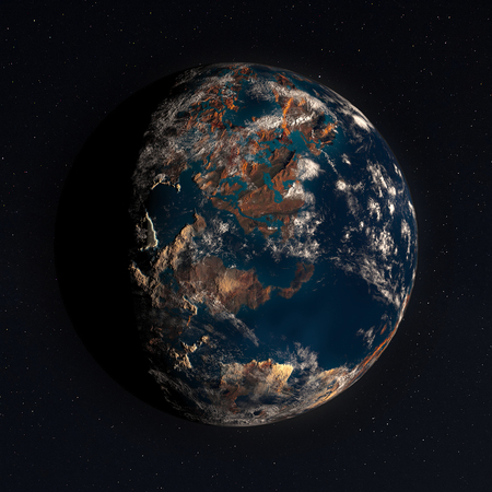 habitable: 3D Planet in Space with Real Stars