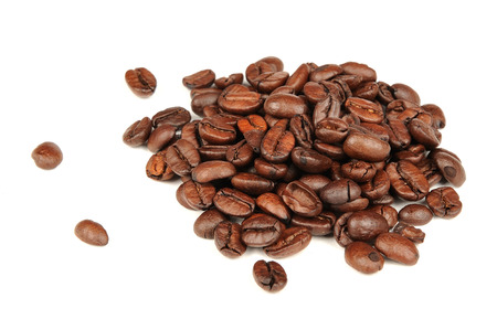 stimulate: Coffee Beans Isolated on White Background
